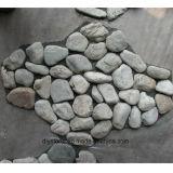 庭の通路のための灰色の玉石の石のタイル