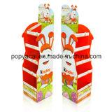Cartón de punto de venta Pantalla con 4 estantes celebración de 30 kg, robusto cartón y el suelo soporte de exhibición