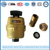 Medidor de agua de pistón rotatorio Volumetric del latón de Dn15-25m m