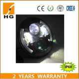 7inch diodo emissor de luz Headlight High Low Beam Headlight com Angel Eyes para Harley/Jeep/Auto