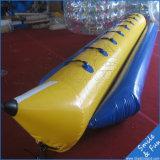 Barco de plátano inflable de la mosca del agua de 10 jugadores para el deporte