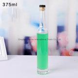 bottiglia di vetro Straighted-Parteggiata trasparente di memoria del vino del ghiaccio 375ml