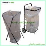 2つの車輪のFoldable鋼鉄庭のガーベージのカート