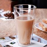 Tazza di birra di vetro doppia di vetro bevente della tazza di caffè della tazza del latte di vetro di Pyrex