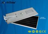 80W 7-10m integrou a luz solar da rua ao ar livre