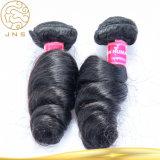 安い卸売100%未加工黒く自然なRemyの加工されていないペルーのバージンの毛の人間の毛髪Extensin