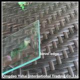 verre de flotteur d'espace libre de 4mm avec le bord biseauté de meulage approximatif