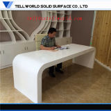 ISO Standard White Corian Office Set Diretor Gerente Office CEO Table with Cabinets