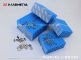 PCD schiebt Hartmetall-Substratfläche-Einlagen ein