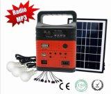 Casa Solar portátil con sistema de radio FM, la energía solar Lámpara de Camping Home