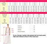 Lange Hülsen-Brautballkleid-volles Spitze-Rosa-Schärpe-Hochzeits-Kleid G17259