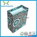 Saco de compras de papel feito à mão de luxo personalizado com alça