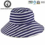 Шлем ведра большого Brim способа повелительниц женщины реверзибельный горизонтальный Striped