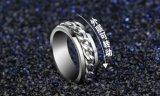 De Ringen van de Vinger van de Vrouwen van de Mannen van koningin New Trendy Jewelry Titanium Staal