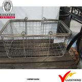 Caisses en métal industriel empilables gris vintage pour rangement