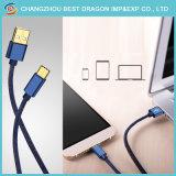 Trançado de Nylon azul dados de carregamento USB 3.0 Cabo do tipo C