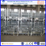 Recipiente de aço empilhável de aço galvanizado dobrável para armazenamento de armazém