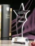 De individuele Toekenning van de Trofee van het Kristal van het Blok van het Zandstralen met Aangepast Embleem