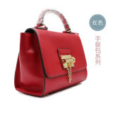Genuine rosso Leather Tote Bags per Luxury Collections del Women