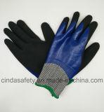 Анти--Отрежьте 5 полно покрынный нитрил, Sandy наружный, перчатки работы безопасности