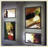 Оптовой установленная стеной акриловая светлой индикаторная панель коробки/плаката
