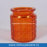 Vidro laranja Candleholder