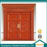 Porta de frente de madeira maciça de luxo com novo design (WDP3001)