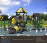 Kaiqi medium -Sized Playground van Multi Level Children met Spiral Slide en More (KQ50078A)