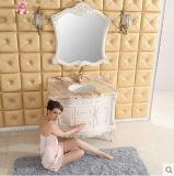 Eichen-Badezimmer-Schrank in der weißen Farbe