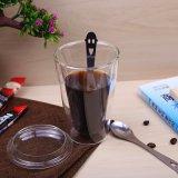 11ozホウケイ酸塩ガラスのミルクのマグの倍の壁のコーヒー・マグはPyrexのミルクのコーヒー・マグをカスタマイズする