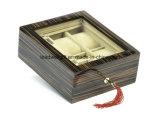 Hölzerner Schmucksache-und Uhr-Kasten für sechs Uhren