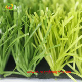 Herbe artificielle de monofil vert clair et vert-foncé pour le football du football