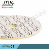 3 Passos Almofadas de polir molhadas flexíveis para pedras de granito