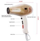 Secador de cabelo compacto com motor AC profissional RG8016