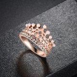 새 모델 크라운 보석 로즈 금 형식 반지