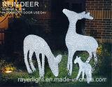 美しい動物LEDのモチーフは正方形公園の装飾ライトをつける
