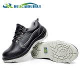 Zapatos de seguridad de acero de la punta del tobillo inferior negro para los hombres