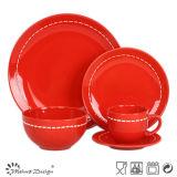 Insieme di pranzo di ceramica del cerchio del Knit