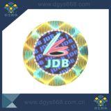 Etiqueta holográfica feita sob encomenda do efeito dinâmico