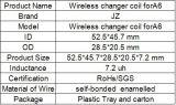 Trois bobines de cuivre Bobine de chargeur de voiture sans fil pour transmetteur de voiture sans fil Transmetteur