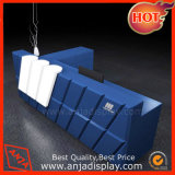 Bureau bleu de caisse de sortie de Tableau de caissier de couleur