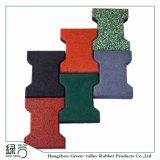 De fabriek paste Kleurrijke de been-Vorm van de Kleurstof SBR RubberMatten voor de OpenluchtWeg /Playground/Garden/Walkway/Courtyard/Balcony van de Gang aan