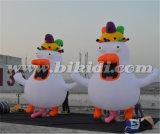 Holländische aufblasbare Huhn-Karikatur, Holland-aufblasbarer Huhn-Ballon für Verkauf K9052