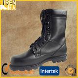 黒くよい等級の本革の安い価格の軍の戦闘用ブーツ