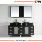 2016 Tempered Glass Double Above Mount Sink Gabinete de banheiro T9119