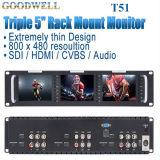 Monitor da polegada TFT LCD triplicar-se 5