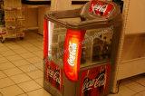 Congelador do console do supermercado para o gelado