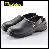 Zapatos de seguridad médica con puntera de acero Cap L-7096 Negro