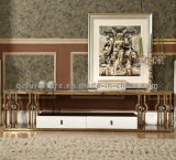 DrawerのローズGolden Stainless Steel Frame TV Stand