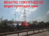 Megatro 110kv Tangent 1f3-Sz3 cd. Tower Transmission